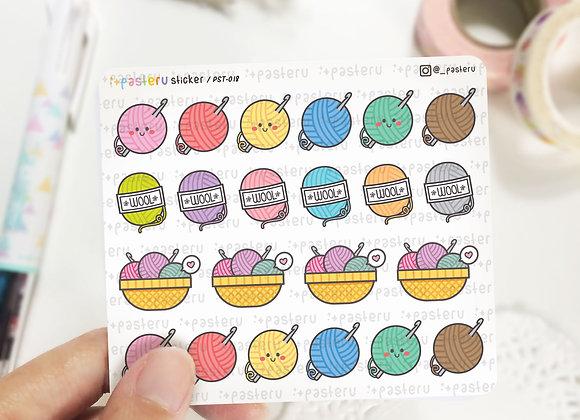Yarn Knit Stickers