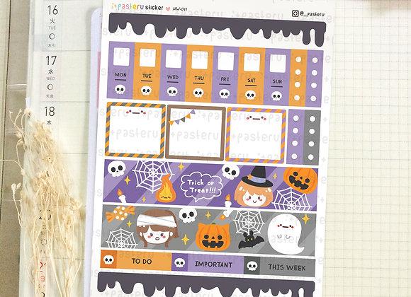 Kawaii Halloween - Hobonichi Weeks Kit