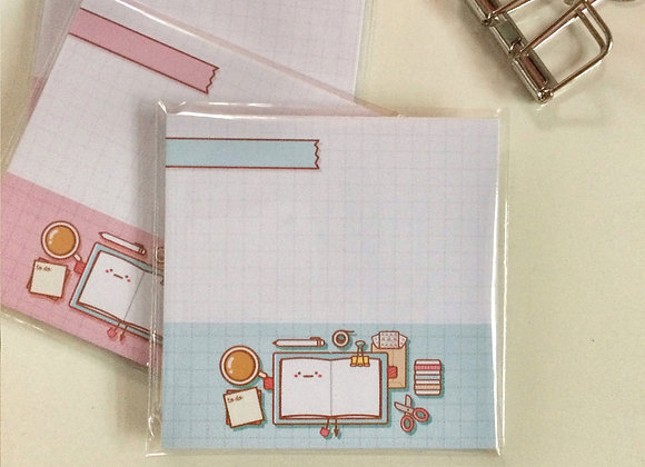 Tear off Memo Pad  - Flatlay Mint