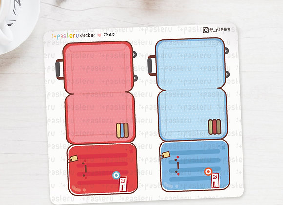 Kawaii Luggage Foldover Stickers