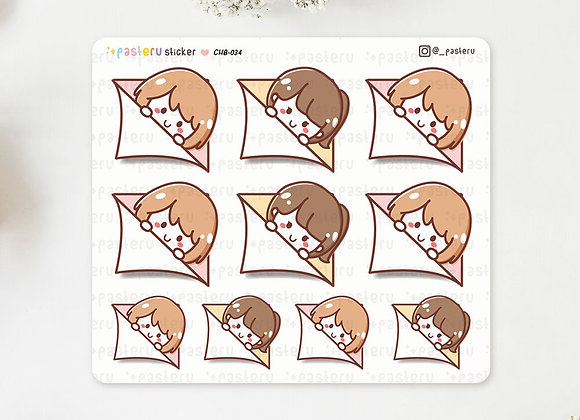 Chibis Page Hiding Stickers