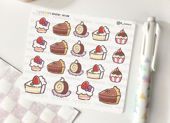 Cake Slice Sticker - 089