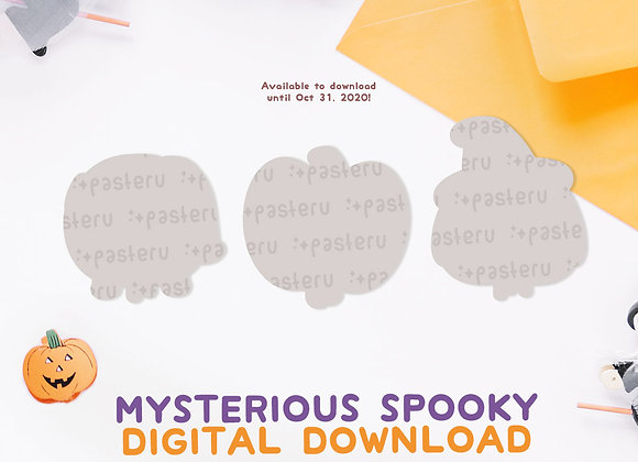 Mysterious Spooky Halloween Digital Download