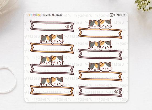 Ribbon Header Cat