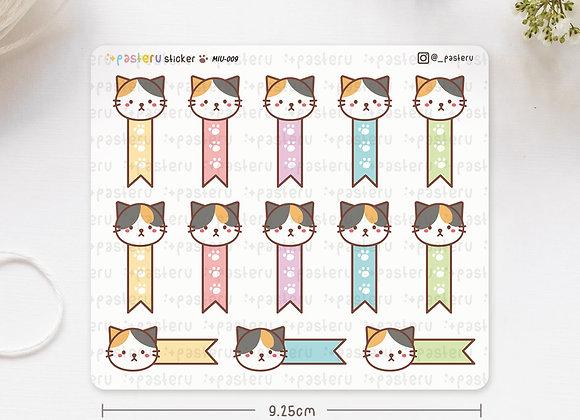 Ribbon Checklist Cat Stickers