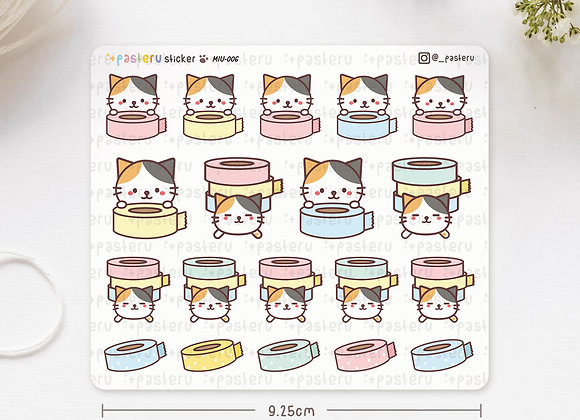 Washitape Calico Stickers