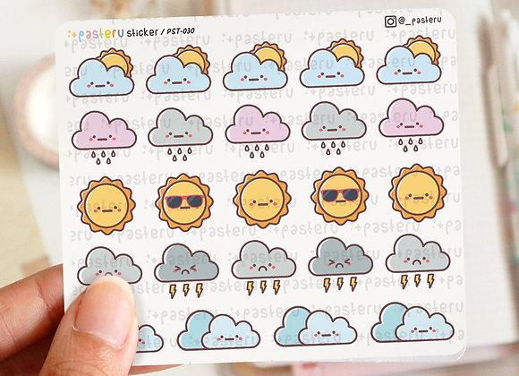 -redraw- Cloud Weather Sticker
