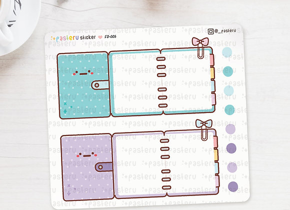 Writable Ring Planner Foldover Stickers