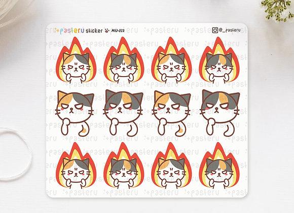 Cat in Fire Spirit Stickers