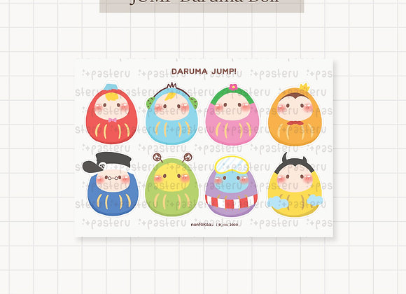 JUMP Daruma Doll Vinyl Stickers