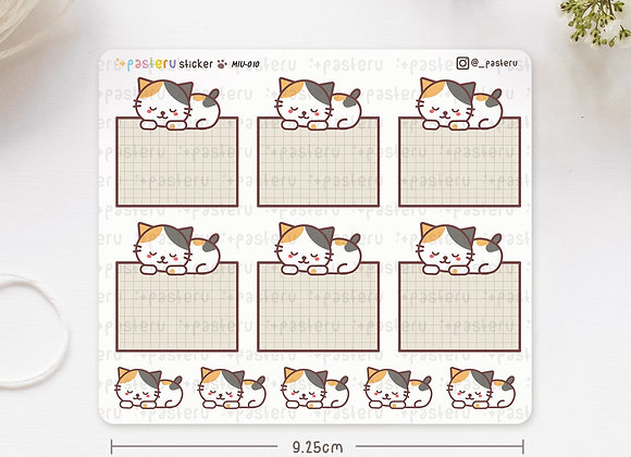 Sleeping Cat Blank Box