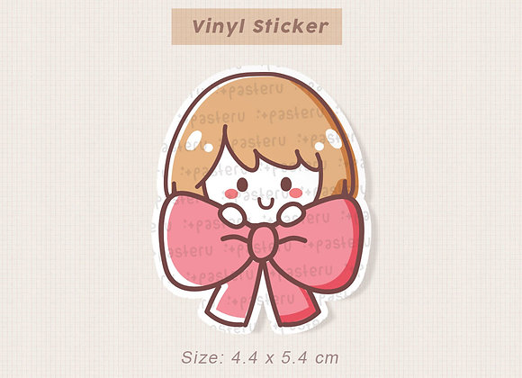 Ribbon Ruru Vinyl Diecut