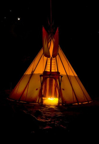 My tipi, winter solstice
