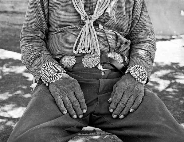 Tony Tsosie's hands