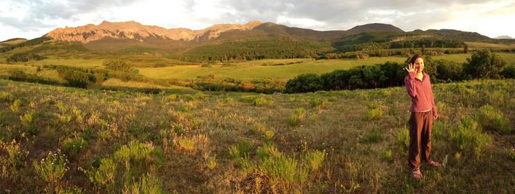 Jeannie Zandi, Hastings Mesa, on friend's ranch.