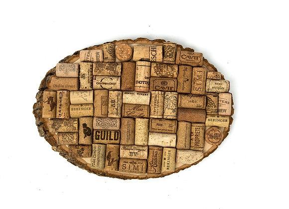 The Round Natural Edge Cork Board