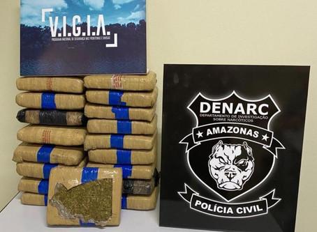 Equipes policiais do Denarc prendem dupla que armazenava e transportava drogas na capital