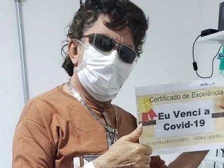 """Pronto pra continuar """"subindo pelas paredes"""". Nunes Filho vence a covid-19."""