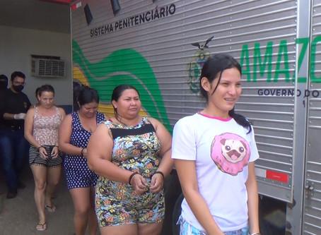 30 presos na Operação Solimões em fronteira II, foram transferidos de Manacapuru para Manaus.