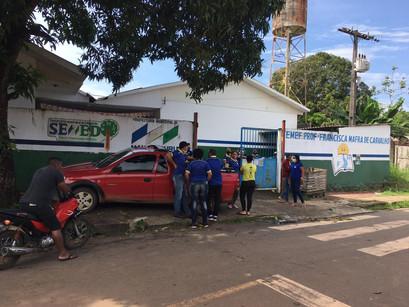 Escola Municipal Francisca Mafra da Morada Sol foi alvo de assaltantes na manhã desta terça-feira