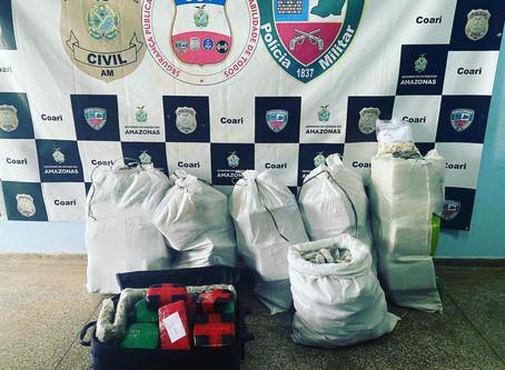 Em 30 dias, Base Arpão instalada no Rio Solimões, já bate recordes de apreensão de droga
