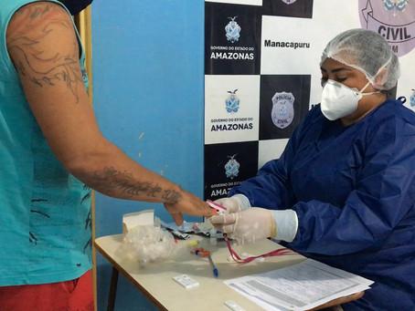 Detentos de Manacapuru passam por teste de covid 19 em massa após suspeita de infecção