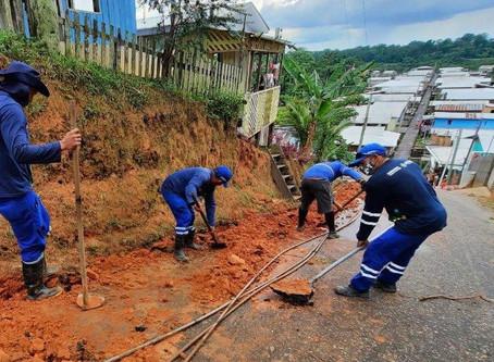 Cosama inicia ampliação de rede de abastecimento em Carauari e beneficia mais de 200 famílias com á