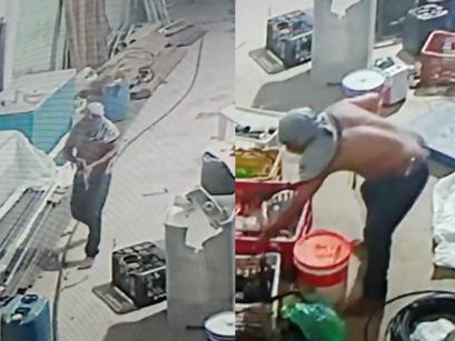 Vítima pede ajudar para identificar ladrão que invadiu galpão no Bairro Vale Verde, em Manacapuru