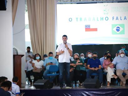 Interior é o foco   Saullo Vianna participa de inaugurações em Tefé e S. Antônio do Içá