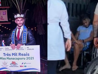 Jovem sofre acidente na manhã seguinte após ganhar o título de Mister Manacapuru 2021