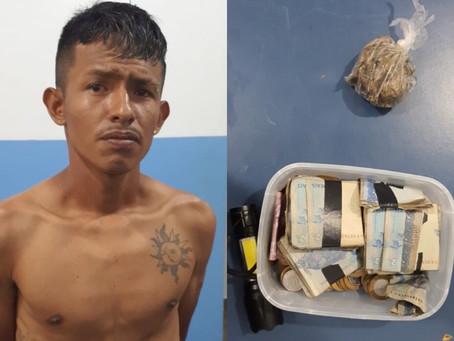 Polícia Civil prende homem  com droga no Bairro de Figueirinha, em Manacapuru