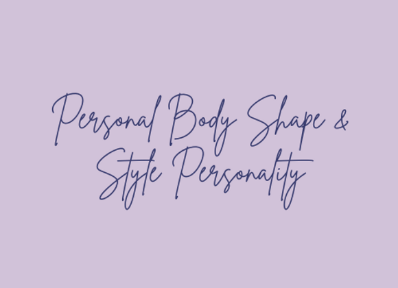 Personal Body Shape and Style Personality Analysis