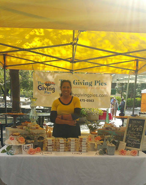 The Giving Pies Farmers Market booth