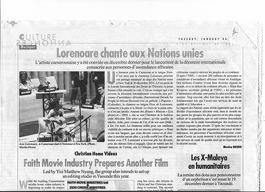 Compte rendu de la prestation de LORNOAR à l'Assemblée générale des Nations Unies