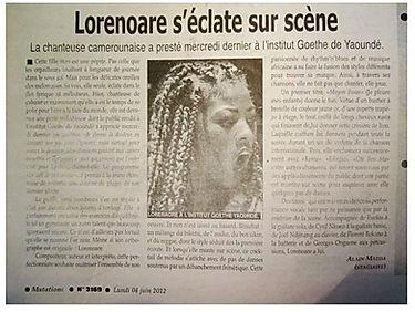 Journal Mutations Compte-rendu du Concert Goethe Institut 2012