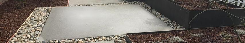 Modern Corten Steel and Concrete