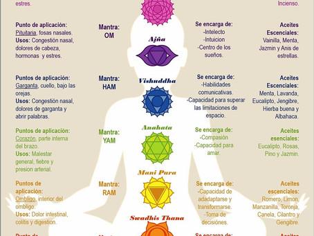 Aromaterapia y chakras en masaje holístico. Versión reducida.