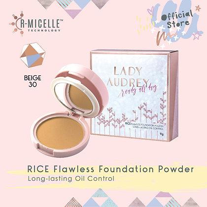 Lady Audrey Rice Flawless Foundation Powder Long-Lasting Oil Control Beige 30