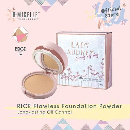Lady Audrey Rice Flawless Foundation Powder Long-Lasting Oil Control Beige 10