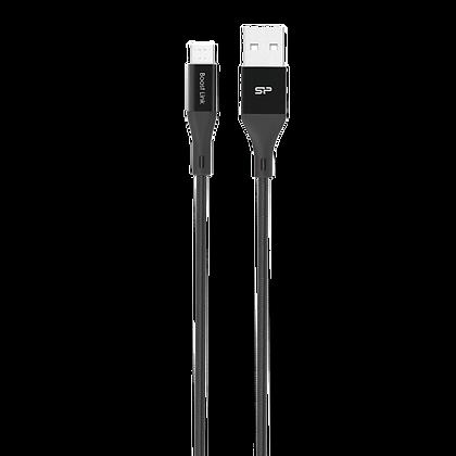 Silicone Power Cable Micro-USB Nylon, 1M