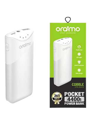 Cobble Pocket Size Power Bank 4400 mAh White