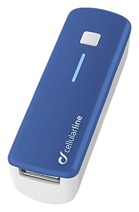Cellular Line mobile USB battery charger  2200mAh Blue