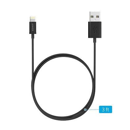 Anker Lightning To USB Cable 3ft – Black