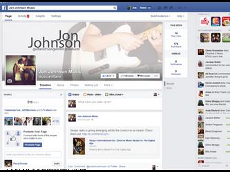 Like! Jon Johnson on Facebook
