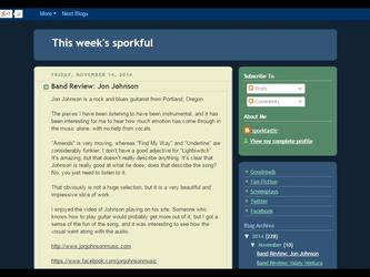 Review of Jon Johnson songs on Sporkful!