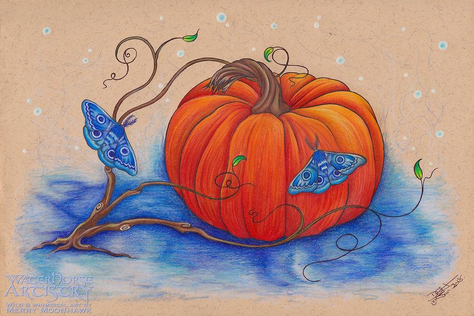 After The Harvest WITHIN THE WILDWOOD pumpkin samhain halloween art illustration