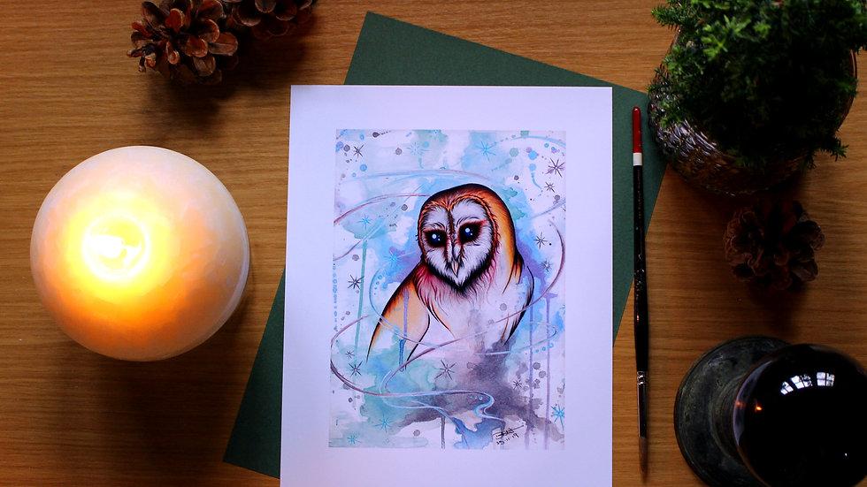 Upon Wings Of Wisdom - Art Print