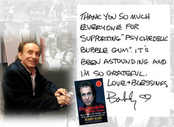 Thank you note from Bobby Hart