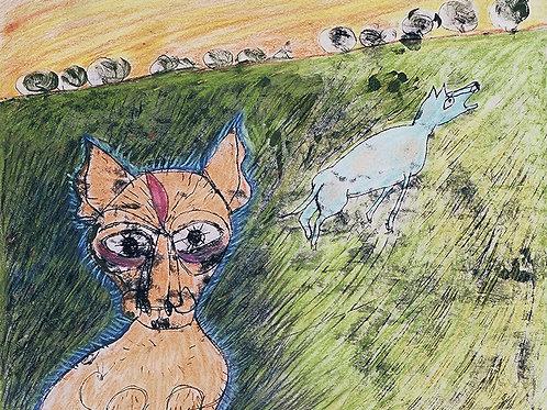Untitled 13(Cat & Dog) by Jan Karlton