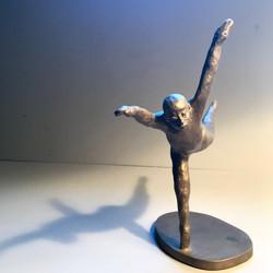 Male upright dancing in flight